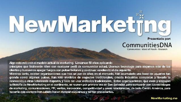  Su compañía esta liderando las tendencias de la industria,  NewMarketing es el evento perfecto para sus marcas. Exhibir...
