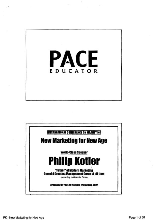 New Marketing for New Ages (2007) - Philip Kotler