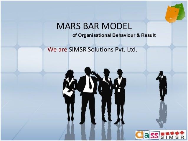 MARS BAR MODEL We are SIMSR Solutions Pvt. Ltd. of Organisational Behaviour & Result