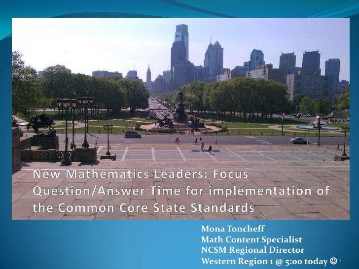 New math leaders.ncsm 2012