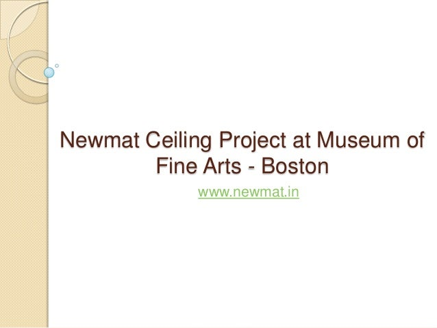 Newmat Ceiling Project at Museum of Fine Arts - Boston www.newmat.in