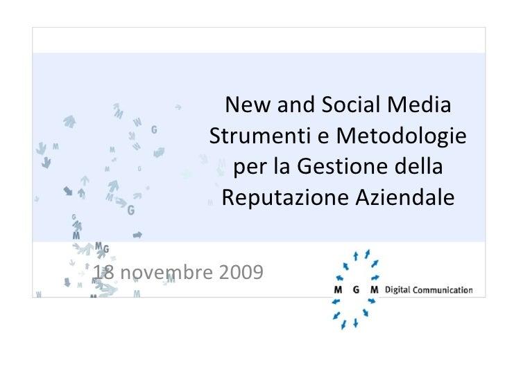 New & Social Media - MGM Digital Communication