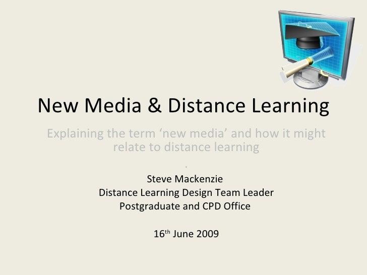 New Media & Distance Learning Workshop (160609)