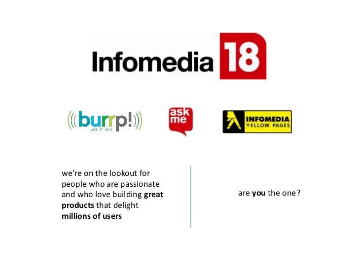 Infomedia18 New Media Hiring Software Engineers