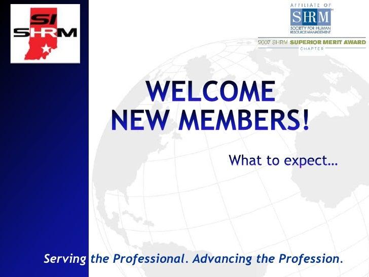 New Member Orientation Si Shrm