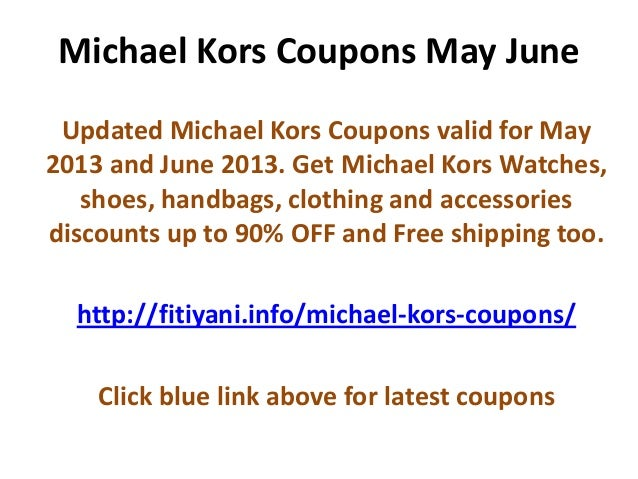 Discount coupons for michael kors