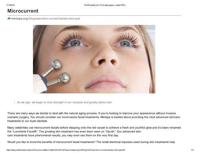 New micro current facials at mint spa