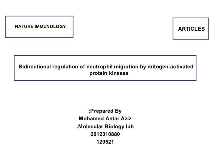 NATURE IMMUNOLOGY                                                               ARTICLES  Bidirectional regulation of neut...