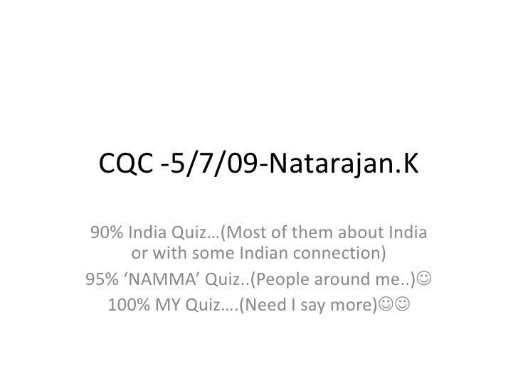 Nut's namma Quiz :P
