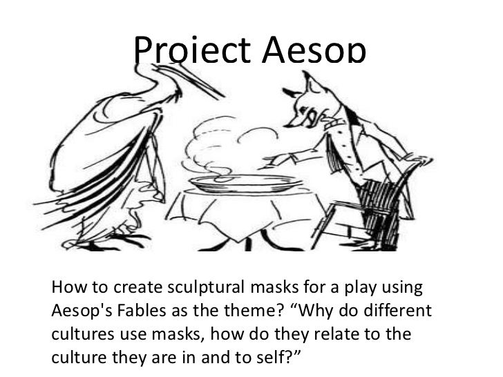 """Project Aesop<br />How to create sculptural masks for a play using Aesop's Fables as the theme? """"Why do different cultures..."""