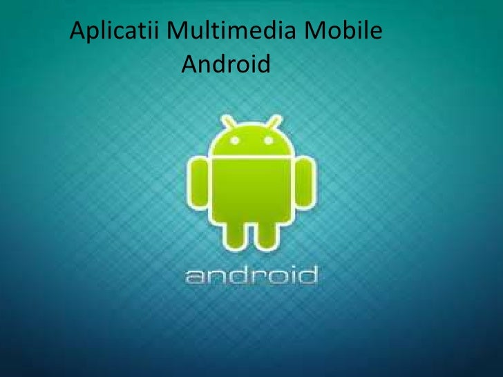 Mobile And Web Multimedia