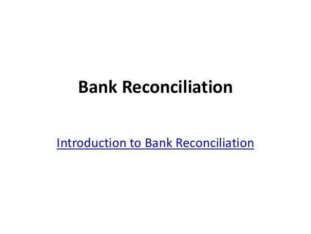 bank reconcilliation