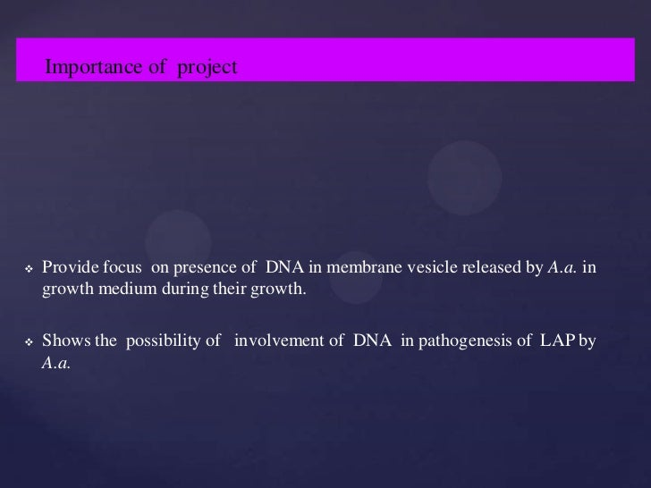 Dna research thesis