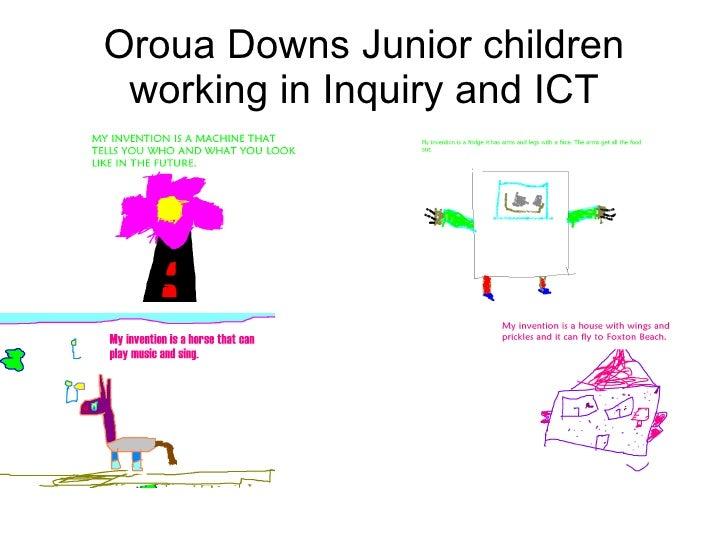 Oroua Downs Junior children working in Inquiry and ICT