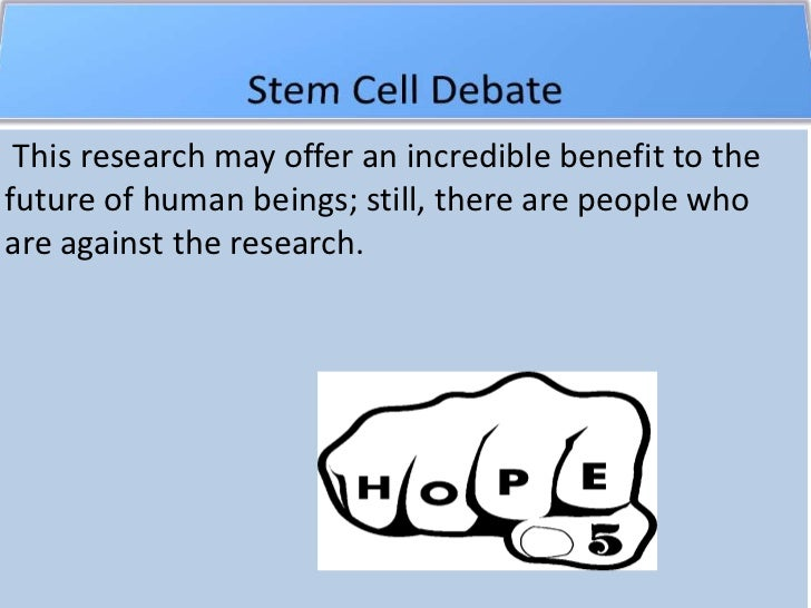 Thesis statement on stem cell research