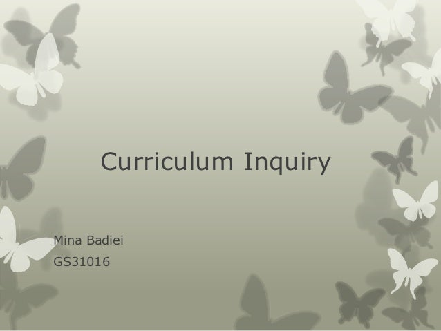 curriculum inquiry