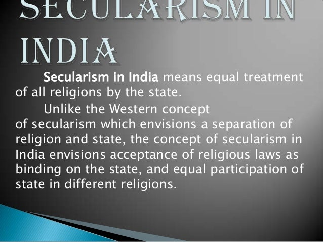 Essay On Secularism