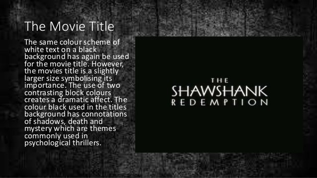 shawshank redemption movie analysis The shawshank redemption is a wonderful movie full of meaning what can we learn in terms of change management with the film find out more with openmind.