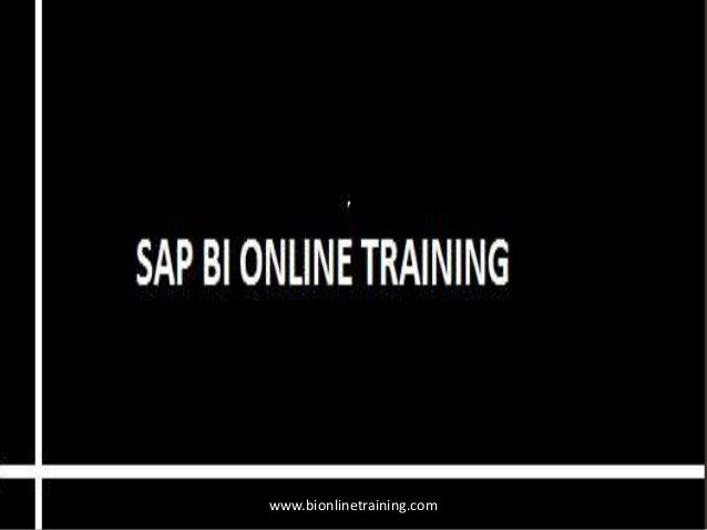SAP BI online training with placement assistance