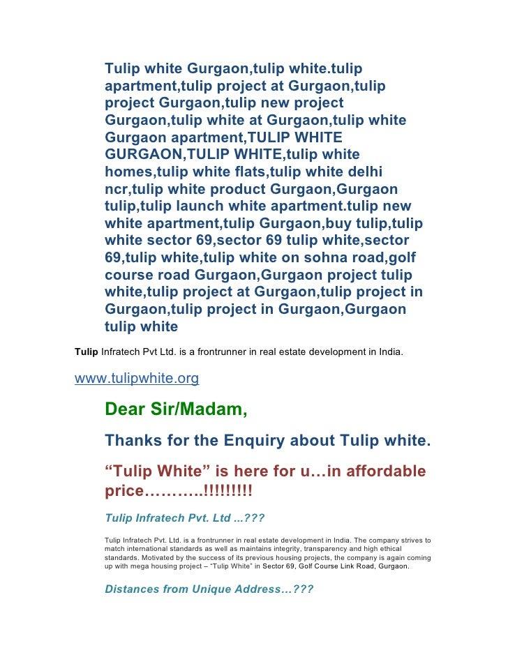 Tulip white Gurgaon,tulip white.tulip        apartment,tulip project at Gurgaon,tulip        project Gurgaon,tulip new pro...