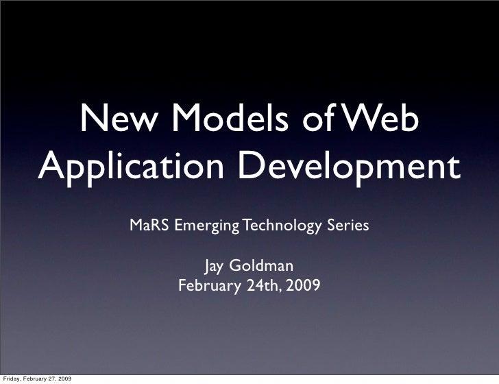 New Models Of Web Application Development