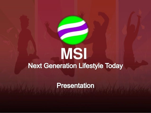MSI (Multiple Streams of Income) - Presentation