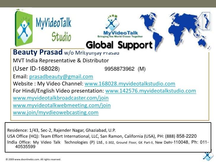 Beauty Prasadw/o Mrityunjay Prasad<br />MVT India Representative & Distributor<br />(User ID-168028)                      ...