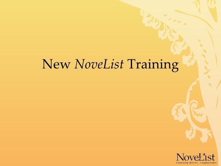 New  NoveList  Training