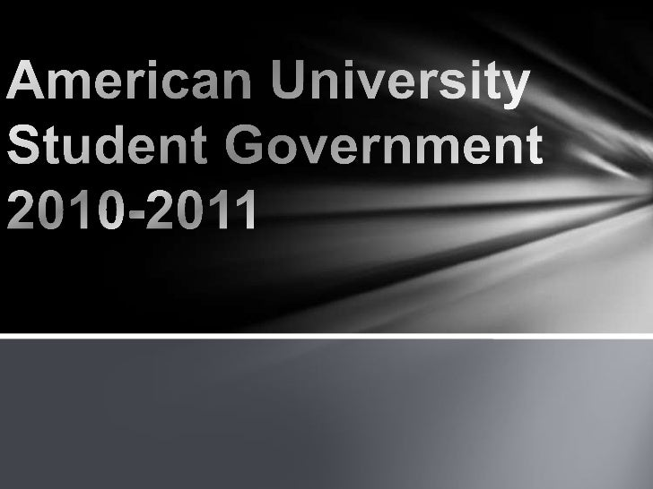 American University Student Government 2010-2011<br />
