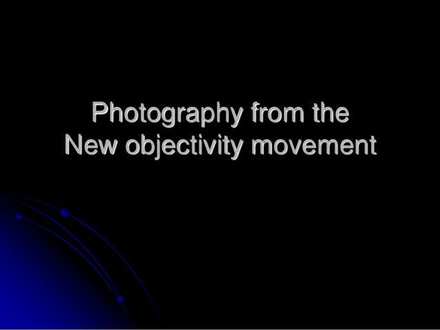 New objectivity
