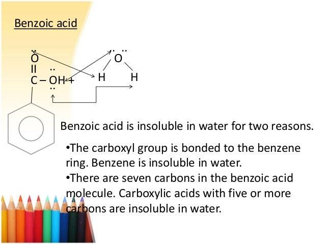 Benzoic acid and sodium bicarbonate