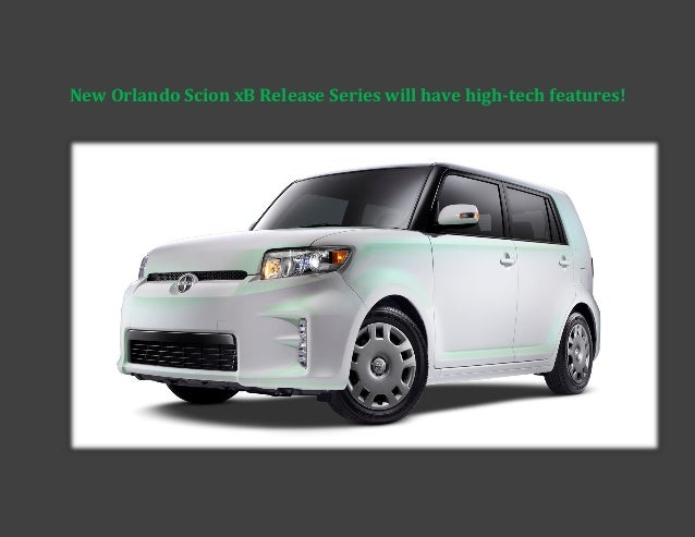 New Orlando Scion xB Release Series will have high-tech features!