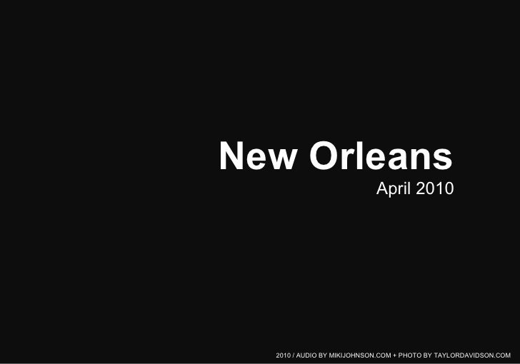 Moments from New Orleans