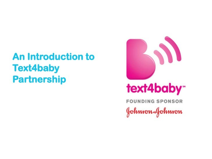 Text4baby New Partner Slides