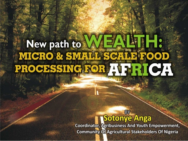 New path to wealth micro & small scale food processing for africa