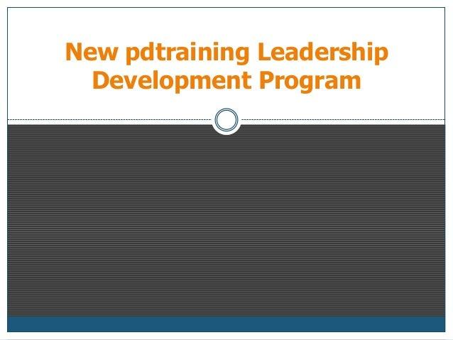 New Pdtraining Leadership Development Program