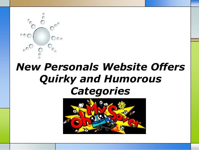New Personals Website Offers Quirky and Humorous Categories