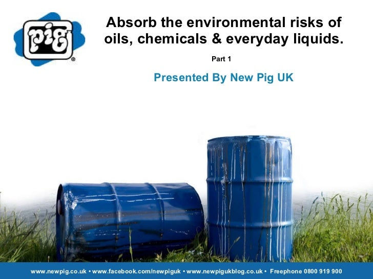 Absorb the environmental risks of oils, chemicals & everyday liquids