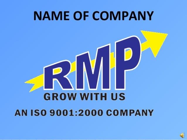 Rmp business plan