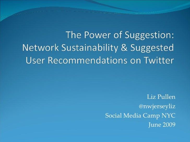 Liz Pullen @nwjerseyliz Social Media Camp NYC June 2009