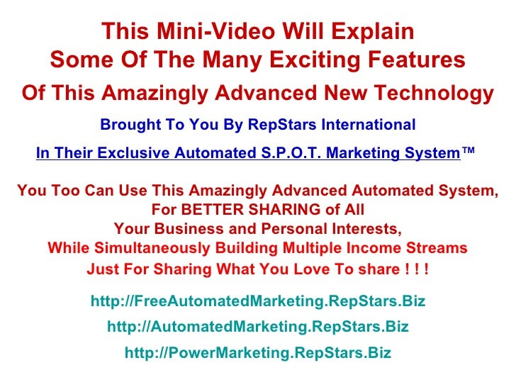 This Mini-Video Will Explain Some Of The Many Exciting Features Of This Amazingly Advanced New Technology Brought To You B...