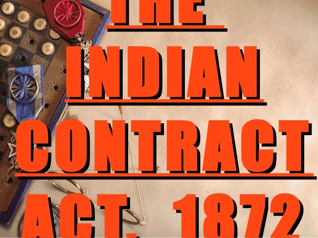 Indian Contratc Act  MIM