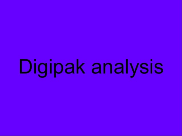 Digipak analysis