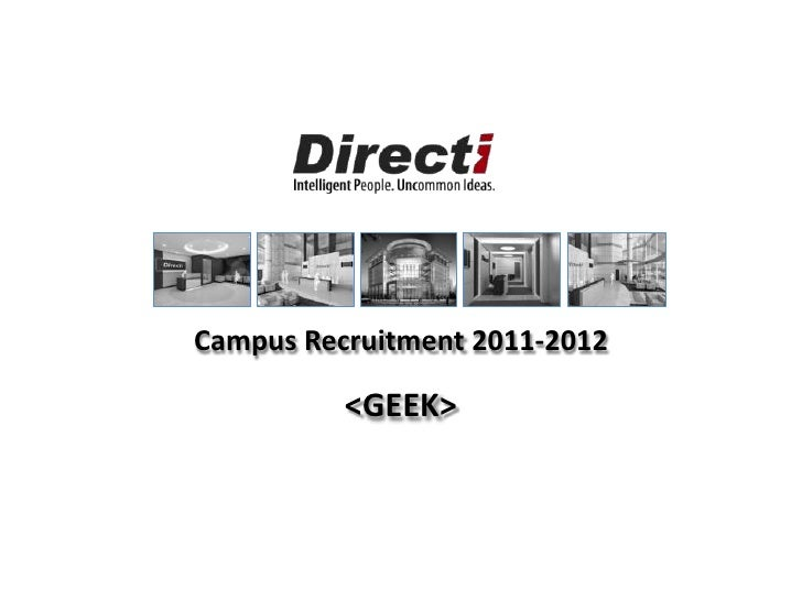 Campus Recruitment 2011-2012<br /><GEEK><br />