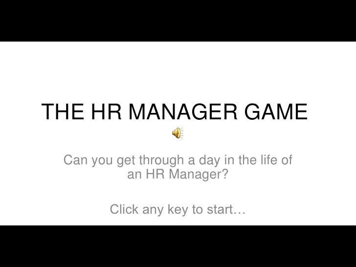 HR Manager Game RHRI