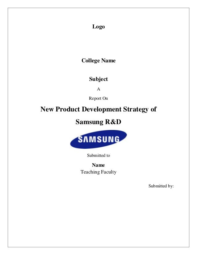 New product development strategy of samsung r d report for Product design strategy