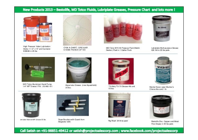 "High Pressure Valve Lubrication Sticks 1-1/2"" x 10"" and Cameron 600668 in 25 lbs  M/D Totco Aluminium Hand Pump 1/4"" NPT S..."