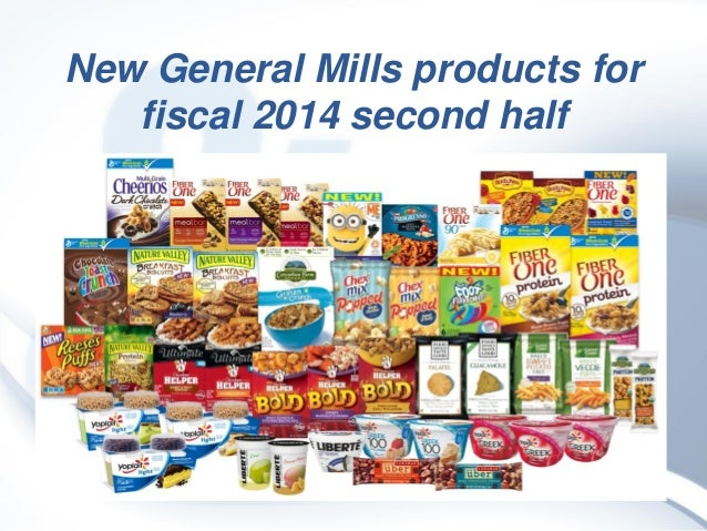 New General Mills products for fiscal 2014 second half