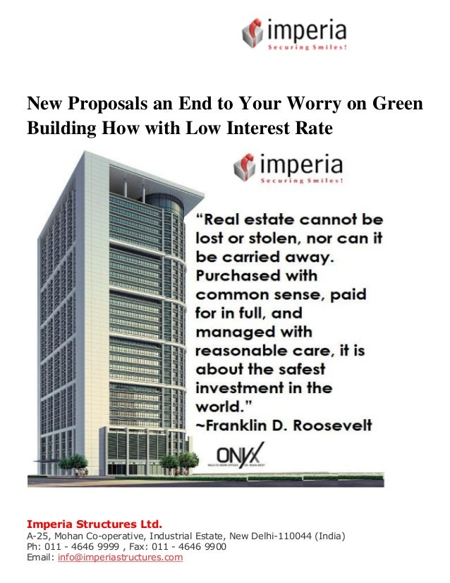 New proposals an end to your worry on green building how Rate your builder