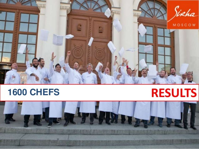 1600 CHEFS  RESULTS
